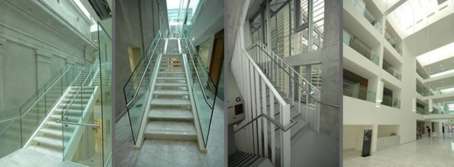 Signature Stairs - commercial staircase for Cork City Hall