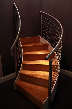 Curved Stairs from Signature Stairs Showroom