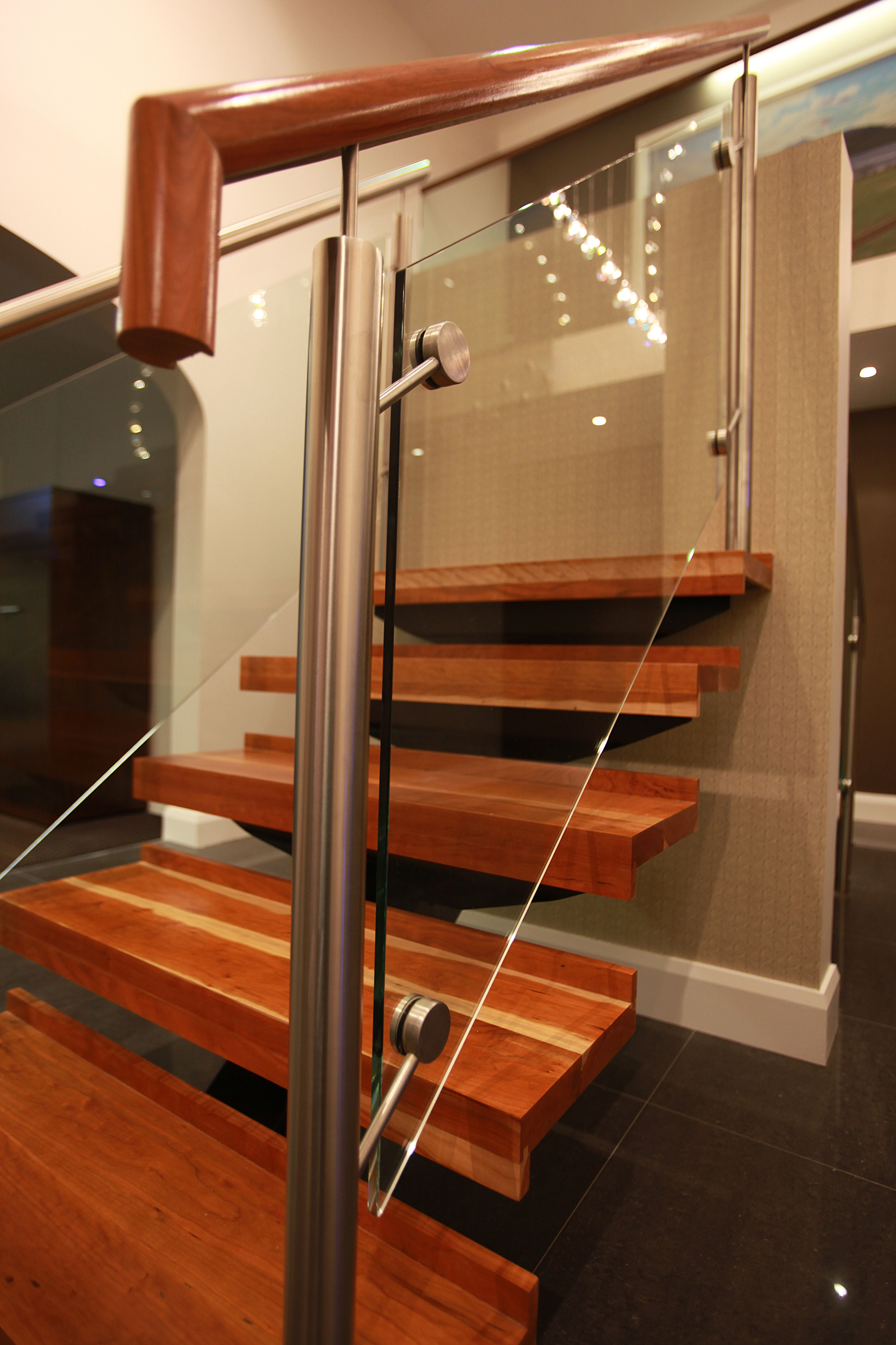 Glass Barade Stairs Design