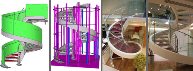 Signature Stairs - commercial project - helical staircase design