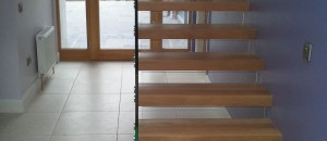 Open rise Cantilever glass stairs Ireland