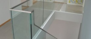 Corbellian stairs finished with toughened glass balustrade