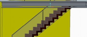 3-D drawing of Corbellian Stairs