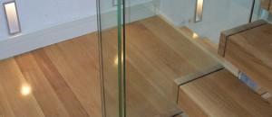 Frameless Glass Balustrade with Rebated Oak Handrail