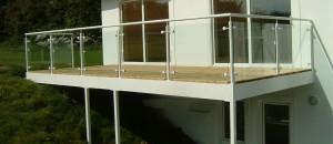steel exterior railing