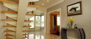 contemporary stairs with fin-plate support