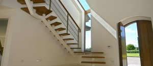 contemporary staircases with box support