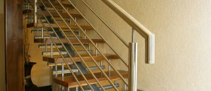 Glider modern staircase design with central spine support